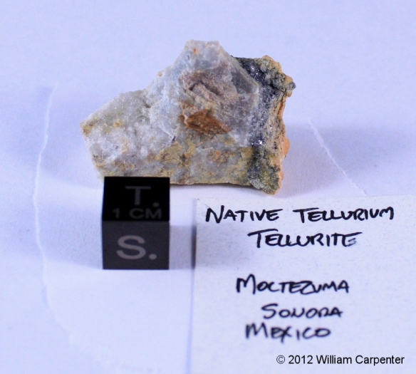 A sample of native tellurium.