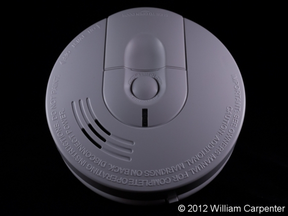 An ionization smoke detector.